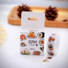 Cartoon Sushi Masking Tape