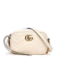 ca2c0719530406 Buy and sell authentic handbags including the Gucci Marmont Crossbody  Matelasse Mini White in Calfskin Leather with Aged Gold-tone and thousands  of other ...