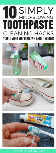 10 Simply Mind-Blowing Toothpaste #Cleaning Hacks