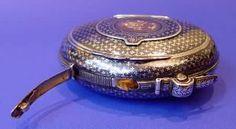 French Antique Silver, Gold & Niello Tobacco & Vesta Case - Daniel Bexfield Antiques.