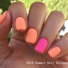 Bright neon and orange matte nails are definitely nail trends 2019 Unhas is part of nails Shape Almond Squoval - Perfect summer nails! Bright neon and orange matte nails are definitely nail trends 2019 Unhas Neon Orange Nails, Neon Nails, Matte Nails, Summer Shellac Nails, Acrylic Nails, Bright Nails Neon, Neon Nail Colors, Summer Nail Polish, Shellac Nail Colors