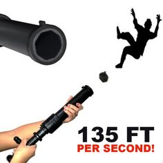 Tazer alternative non lethal weapon-• Law enforcement trusted, Civilian BATF approved • Highly effective knockdown power up to 20 feet away at 135 feet per second with reusable bean bag projectiles • Simple release allows loaded cartridges to be inserted quickly • Safest and most effective non-lethal device compared to electric shock devices • Legal to have loaded in 50 states, and requires no license or background check