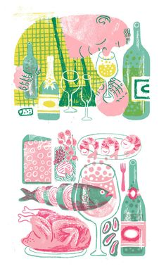JooHee Yoon - I love the colours of this and how the food layers over each other and are not proportionally right.
