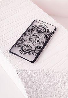Missguided - Mandala iPhone 6 Case Black
