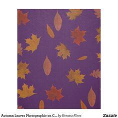 Autumn Leaves Photographic on Custom Color Fleece Blanket