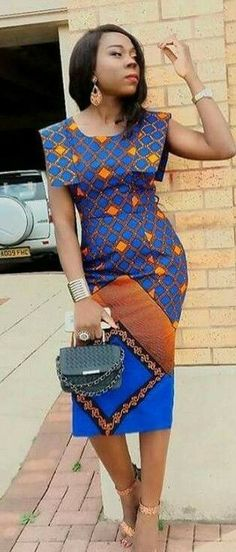Modern And Trendy Ankara Styles African Dresses For Women, African Print Dresses, African Fashion Dresses, African Attire, African Wear, African Women, African Outfits, Ghanaian Fashion, African Prints