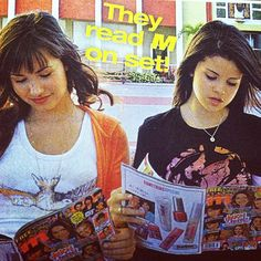 #TBT to when Demi Lovato and Selena Gomez were caught reading #MMagazine on the set of #PrincessProtectionProgram!
