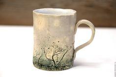Купить Кружка Туманы Травника_2 - кружка в подарок, керамика ручной работы, глина, глиняная посуда