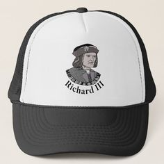 Richard III King of England Trucker Hat - tap to personalize and get yours #richardiii #englishmonarchy #englishhistory #historybuff #historygift #historystudent Richard Iii Society, King Richard, Custom Hats, England, Clothing, Outfits, Outfit Posts, English, British