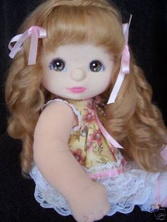 My child doll aussie strawberry blonde midpart ringlet Dummy Doll, My Child Doll, Comfort And Joy, Guys And Dolls, Love My Kids, Cabbage Patch Kids, Strawberry Blonde, Childhood Toys, Soft Dolls