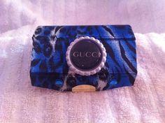 Designer Inspired Blue Animal Print lipstick case