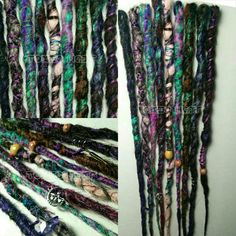 Gypsy 7 Crocheted dreads with charms wrapped  by ToxicHair on Etsy