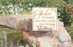 God's promises are new every morning. Tile Design by Simply Said $19.95