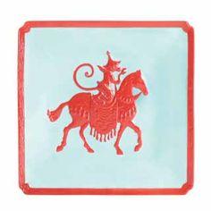 Jean Boggio Marmoset Chevalier Dessert plate (Celadon/Red). Biggs Ltd. Gallery. Heirloom quality bridal, art and home decor. 1-800-362-0677. $142. Ferrari Logo, Moose Art, Plates, Dessert, Bridal, Gallery, Tableware, Animals, Decor