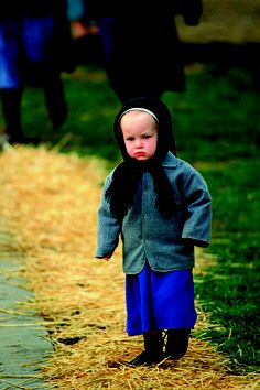 Amish little girl