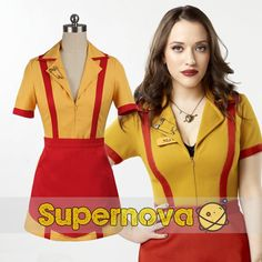 TV 2 Broke Girls Costume Max Black Caroline Channing Cosplay Costume Adult Women Maid Dress Halloween Costume Custom Made
