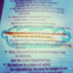 He rescued me.