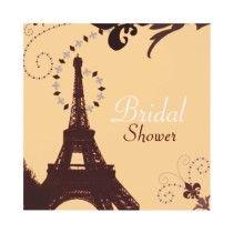 Paris Vintage Bridal Shower Tea Party Invitation by ThemeWeddingBoutique