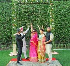 Creative Indian wedding ideas # selfie booth # wedding fun # bride groom