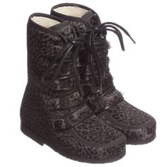 Petit Nord Grey Sheepskin Lined Water Resistant Boots at Childrensalon.com
