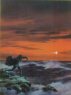 The Lord of the Rings - Ted Nasmith Art - The Silmarillion - 'Maglor Hurls the Silmaril'