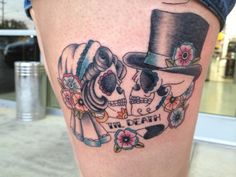 Candy love skulls tattoo