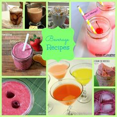 Beverage Recipes - a selection of hot to cold, sweet to savoury, alcohol to mocktails for every occasion!