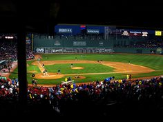 The Fenway Park is a landmark. Home of the Boston Red Sox.