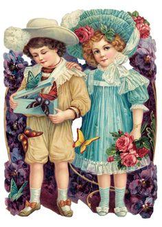 Bild einbinden:-Victorian Die-Cut--Victorian Scrap