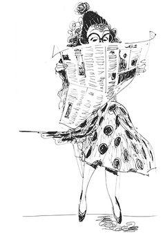 Print PaperGirl - illustratus