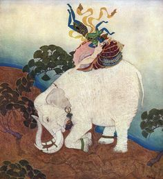 Pinned for later from ArtsyCraftsy.com The pearl of the elephant. Art print from an illustration to The Kingdom of the Pearl by Edmund Dulac.