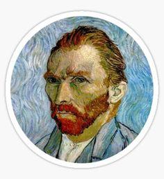 Van Gogh Self Portrait 3/5 Sticker