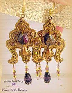 Indrani Handmade Modern Hippie, Polymer Clay Jewelry, Bracelets, Boho Chic, Bronze, Drop Earrings, Handmade, Fimo, Hand Made
