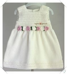 Baby Girl Crochet, Crochet Baby Clothes, Newborn Crochet, Knit Baby Dress, Baby Cardigan, Baby Outfits, Baby Knitting Patterns, Baby Patterns, Baby Sweaters