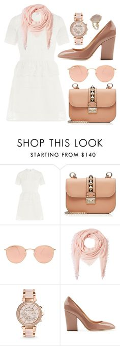 """Spring Forward"" by cherieaustin ❤ liked on Polyvore featuring self-portrait, Valentino, Ray-Ban, Faliero Sarti, Michael Kors, Sergio Rossi, Topshop, women's clothing, women and female"