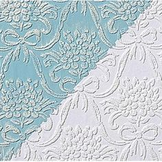 Renovators Supply - Wallpapers White Vinyl Textured Vinyl Embossed Wallpaper | 98071 - Wallpaper. This vinyl wallpaper is made in England. It features beautiful Victorian style embossed motif print. Easy to maintain it is scrubbable- strippable and peelable. This wallpaper is NOT pre-pasted and requires a good quality heavy duty adhesive paste- sold separately. This wallpaper has paper backing. Installation instructions are included. Packaged as a double roll you benefit from longer…