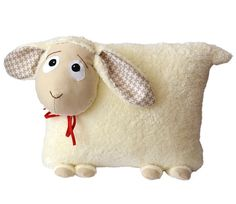 Pillow  Lamb  Sheep  fluffy  Decoration for by HandmadeStellaFelt