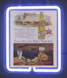 Miller high life poker series neon sign 1 miller high life neon miller high life enjoy beer bar brand neon light sign aloadofball Images