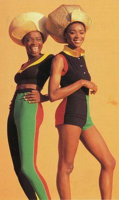 Turkish Designer, Rifat Ozbek's S/S 1991 Rastafarian Collection featuring hats byPhilip Treacy