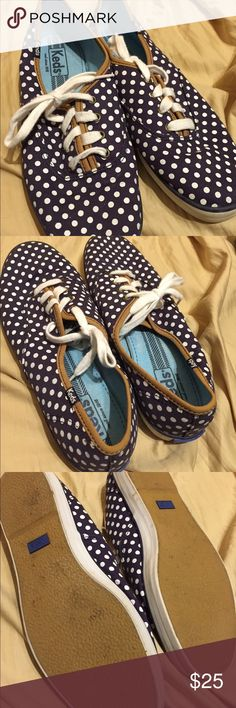 Keds Polka Dot shoes These are cute polka dot shoes that have nice leather trim on them. They have only been worn a couple times. They're in great shape! Keds Shoes Sneakers