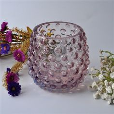 New desiged glass candle for home decoration
