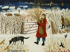Dee Nickerson. I love this British artist's depictions of people with their pets at home and in the countryside.