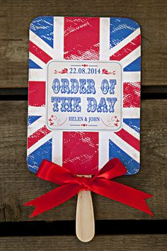 Union Jack order of the day fan from the stationary range by Dottie Creations www.dottiecreations.com