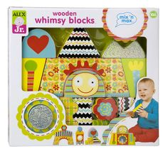 Mix n Max Wooden Whimsy Blocks