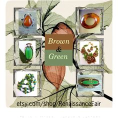 Brown and Green by renaissance-fair on Polyvore
