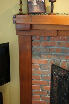 Craftsman Greene & Greene Style Fireplace Mantle | The Wood Whisperer