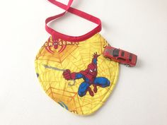 Spiderman Baby Bib Infant Bib Amazing Spiderman by 2Fun4Words