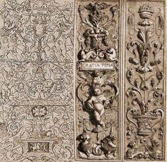 DICCION ARTE: Diseño de grutescos y candelieri de Diego de Riaño, Ayuntamiento de Sevilla