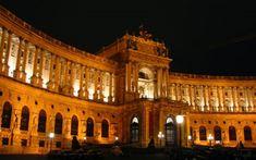 National Library Night, Vienna Stock Photo - Image of austria, complex: 1149404 Architect Design, Vienna, Austria, Louvre, Stock Photos, Night, Trips, Dreams, Viajes