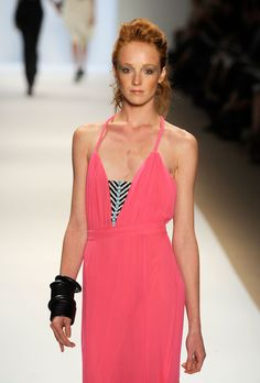 Mara Hoffman The last time chunky bangles looked so good paired with shocking pink? Around 1989Spring 2010